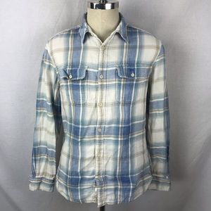 Lucky Brand true indigo soft plaid button front